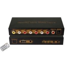 Dekoder/konwerter dźwięku cyfrowego SPDIF/Coaxial Dolby AC3/DTS na analogowy 5.1-kanałowy z USB do Multi-Media odtwarzaczem