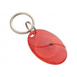 RFID ABS брелок AB0010 светло красный / Mifare 1S50