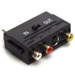 Adapter EURO SCART / 3x CHINCH RCA in-out