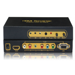 Ypbpr/VGA to HDMI  Ypbpr / VGA + Audio input , HDMI output , upscaler to 1080P .