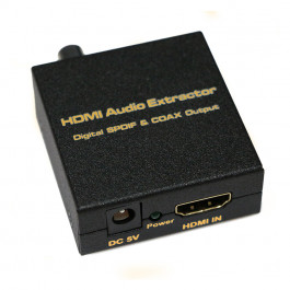 Cyfrowy audio extractor HDMI na analogowy audio 5.1 SPDIF coaxial V 1.4