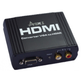 VGA to HDMI convert VGA+ R/L to HDMI output Up to 1080P