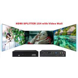 Splitter 1x4 HDMI Video Wall CVBS VGA HDMI USB HDV-TW14