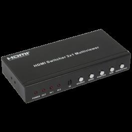 HDMI Switcher 2X1 multi-viewer Full HD Audio HDCP HDV-821PR