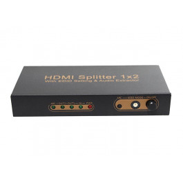 Splitter HDMI 1x2 HDMI z Konfiguracją EDID, ARC Audio Ekstraktor, 3D, 4K