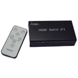 HDMI Switcher 5x1 Metal house, gift box , IR&Power