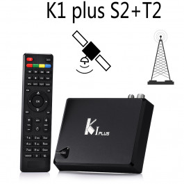 TV Box K1 PLUS T2/S2, Android 5.1 Lollipop, Amlogic S905 Quad core 64-bit, wsparcie Full 3D 4K, 1GB/8GB