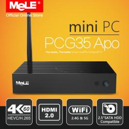 Bezwentylatorowy Mini PC MeLE PCG35 APO Windows 10 4/32 GB Intel Apollo Lake Celeron J3455 4K HDMI VGA WiFi USB SSD