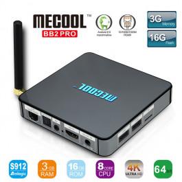 Smart TV Box BB2 PRO Android 6.0 Amlogic S912 DDR4 3GB / 16G KODI 17,0 VP9 Dual Band WiFi 1000M LAN H.265 3G 4K UHD