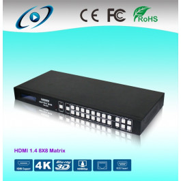Ultra 4K HDMI Matrix Switch 8x8 HDM-988 with RS232 & RJ45