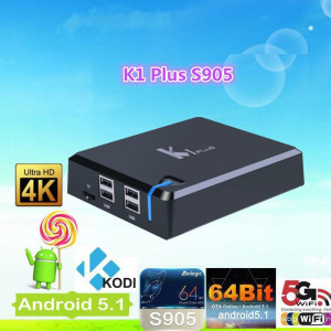 ANDROID TV BOX VenBox K1 PLUS, S905 QUAD CORE. KODI, WIFI, LAN, BT 4.0, HDMI 2.0, 3D, 4K, H.265