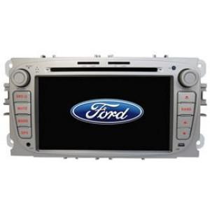 Radio samochodowe dotykowe z GPS Bluetooth USB SD DVB-T ZDX-7018 do FORD black/Silver Focus (2008-2010)