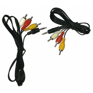 Kabel Jack 3.5 wtyk - 3x RCA krótki 1m