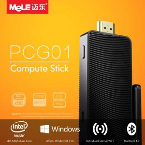 Bezwentylatorowy Compute Stick Dongle Mele PCG01 z czterordzeniowym Atom Z3735F 32GB DDR3 2GB HDMI WiFi Bluetooth eMMC Oryginalny Windows 10