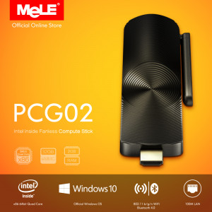 Bezwentylatorowy Mini PC MeLE PCG02 z LAN Windows 10 Quad Core Intel Z3735F 2G/32G