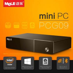 Mini PC MeLE PCG09 czterordzeniowy HTPC z Intel Atom Z3735F, 2GB RAM, 1080P HDMI 1.4, HDD kieszeń, VGA, LAN, WiFi, Bluetooth, Windows 8.1 OS z Bing
