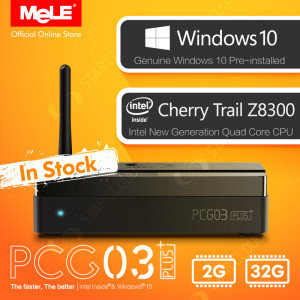 Fanless Mini PC PCG03 Plus z Cherry Trail Z8300, Windows 10, 2GB, 32GB, HDMI, VGA, LAN, WiFi, BT