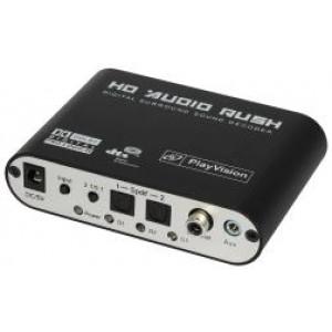 Dekoder/konwerter dźwięku cyfrowego 24bit 192kHz -> analogowy audio 5.1 HDA-51R
