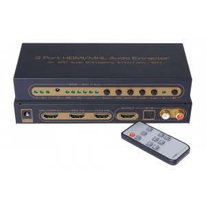 Switch/przełącznik 3x1 HDMI/MHL z Audio Extractor 4K/ARC/EDID audio 5.1CH/ADV/2CH