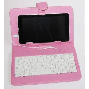 Skórzane ETUI + Klawiatura Tablet 7 cali micro USB