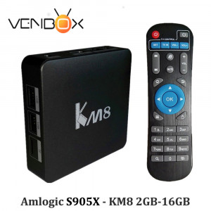 Nowość! TV Box KM8 Amlogic S905X Quad Core Android 6.0 KODI Dual WiFi 2.4G/5G, BT 4.0, 2GB/16GB 4K Smart Media Player