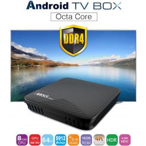 TV Box MECOOL M8S PRO Android 7.1 Amlogic S912 DDR4 3GB RAM 16GB eMMc  KODI 17.0 4K HDR10 H.265