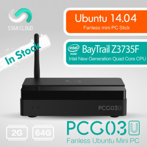 Mini PC MeLE PCG03U Quad Core HTPC Atom Z3735F 2GB RAM 1080P HDMI 1.4 VGA LAN WiFi Bluetooth Linux 14.04