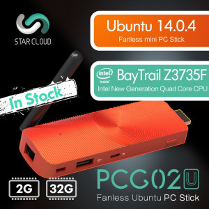 Mini PC Star Cloud PCG02U BayTrail Z3735F 2GB DDR3 32GB eMMC HDMI LAN WiFi