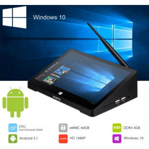 10.8-calowy Mini PC PiPo X10 z podwójnym OS Windows 10 oraz Android 5.1 procesor Z8350 z 4/64GB eMMc, HDMI, BT