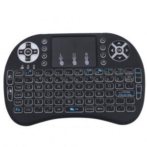 Bezprzewodowa Podświetlana Mini Klawiatura z Touchpadem i8-PRO 2.4GHz do Mini PC Smart TV BOX Android TV Box