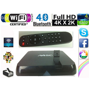 Android Smart TV 4K Box VenBOX ITV-M8C, Kamera 5MP, XBMC, AmLogic S802, Quad Core, KitKat 4.4