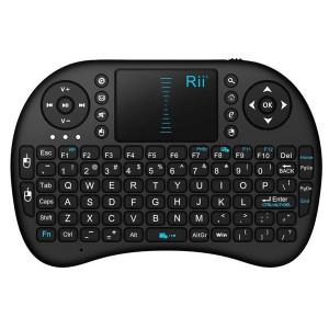 Klawiatura multimedialna, bezprzewodowa Riitek I8 RT-MWK08 2.4G, Touch Pad, akumulator, USB